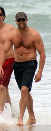 At the beach in Brazil.  Does he not look the epitome of health?